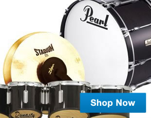 Marching percussion instruments