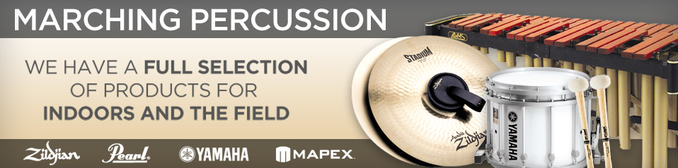 Marching Percussion Zildjian Pearl Yamaha Mapex Indoors Field